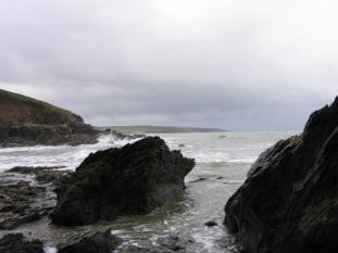 Beach outcrop