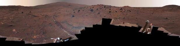 McMurdo panorama from Spirit Rover (Courtesy NASA/JPL-Caltech.)