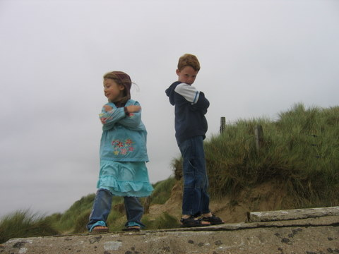 Kids in Utah Beach